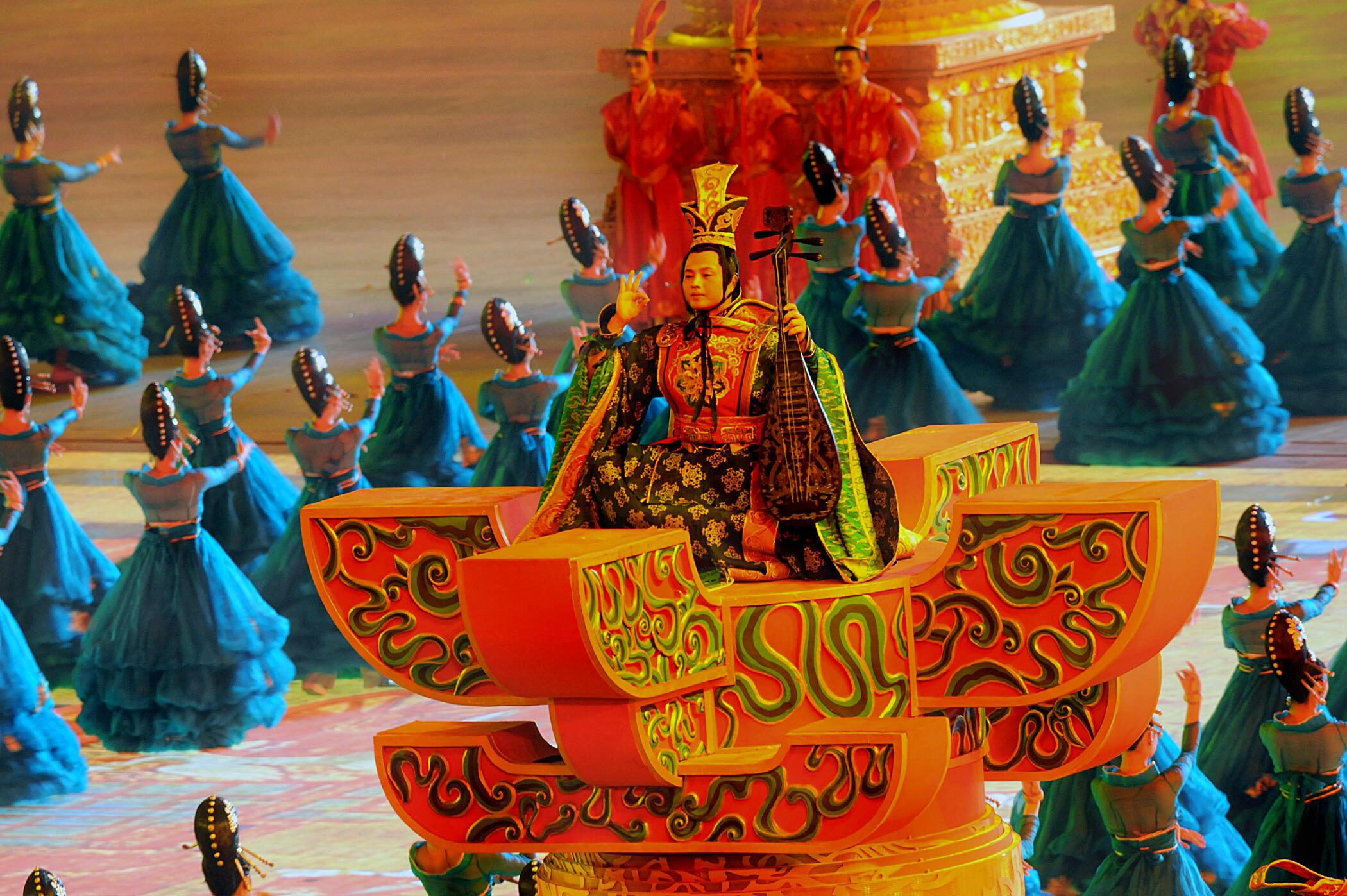 Abertura dos Jogos Olímpicos de Pequim, em 2008.