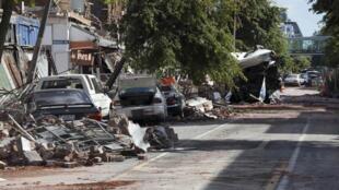 Крайстчерч. Главная улица города Коломбо Стрит 24/02/2011