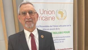 Presidente cabo-verdiano, Jorge Carlos Fonseca, na Cimeira da União Africana de Addis Abeba a 9 de Fevereiro de 2020.