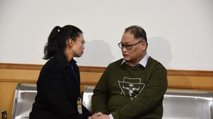 台湾非政府组织工作者李明哲与妻子李净瑜资料图片