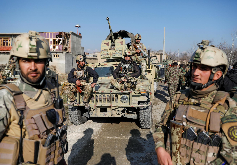 تصویری از نیروهای بینالمللی در کابل.