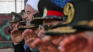 伊朗总统鲁哈尼9月22日参加纪念两伊战争爆发39周年阅兵仪式活动