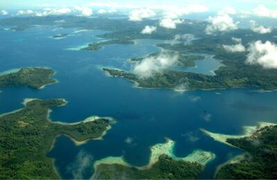 Quanh cảnh quần đảo Solomon tại châu Á-Thái Bình Dương.