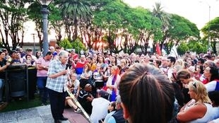 A 84 ans, José Mujica déplace encore les foules. Ici lors d'un meeting à Nueva Helvecia.