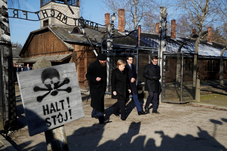 A chenceler alemã Angela Merkel visitou o campo de Auschwitz pela primeira vez nesta sexta-feira, 6 de dezembro de 2019.