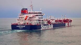 The British-flagged Stena Impero tanker, owned by Stena Bulk, at an undisclosed location, obtained by Reuters on 19 July 2019.