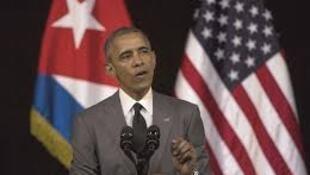 Barak Obama discursa no Gran Teatro de Havana, a 22 de Março de 2016