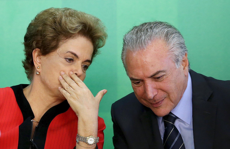 Shugaban Brazil Dilma Roussef  tare da mataimakin ta Michel Temer.