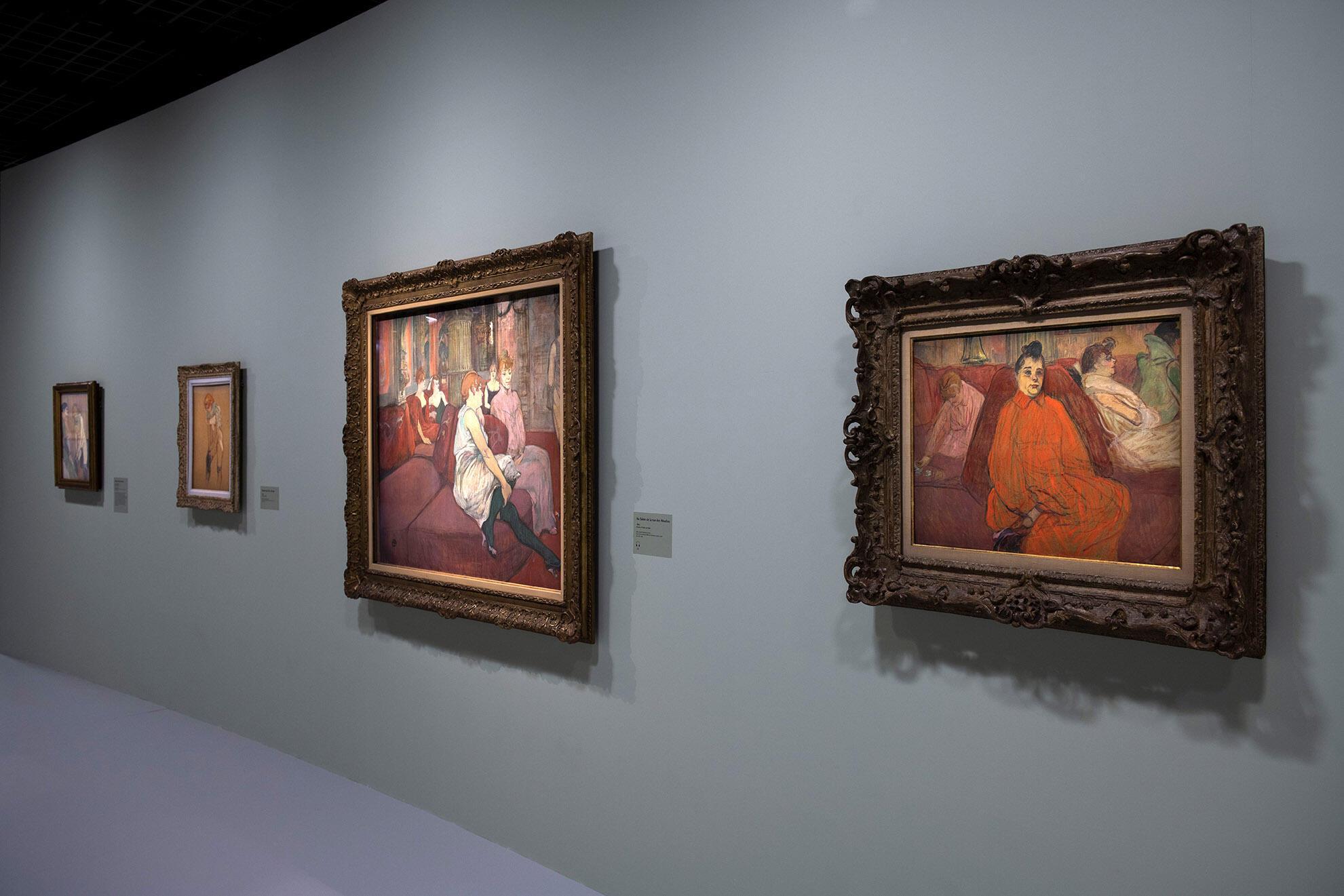 Vista da exposição Toulouse-Lautrec