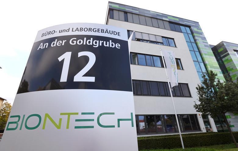 Fachada da empresa BioNTech, na Alemanha