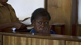 Rosemary Namubiru, l'infirmière séropositive ougandaise lors de son procès le 19 mai 2014.
