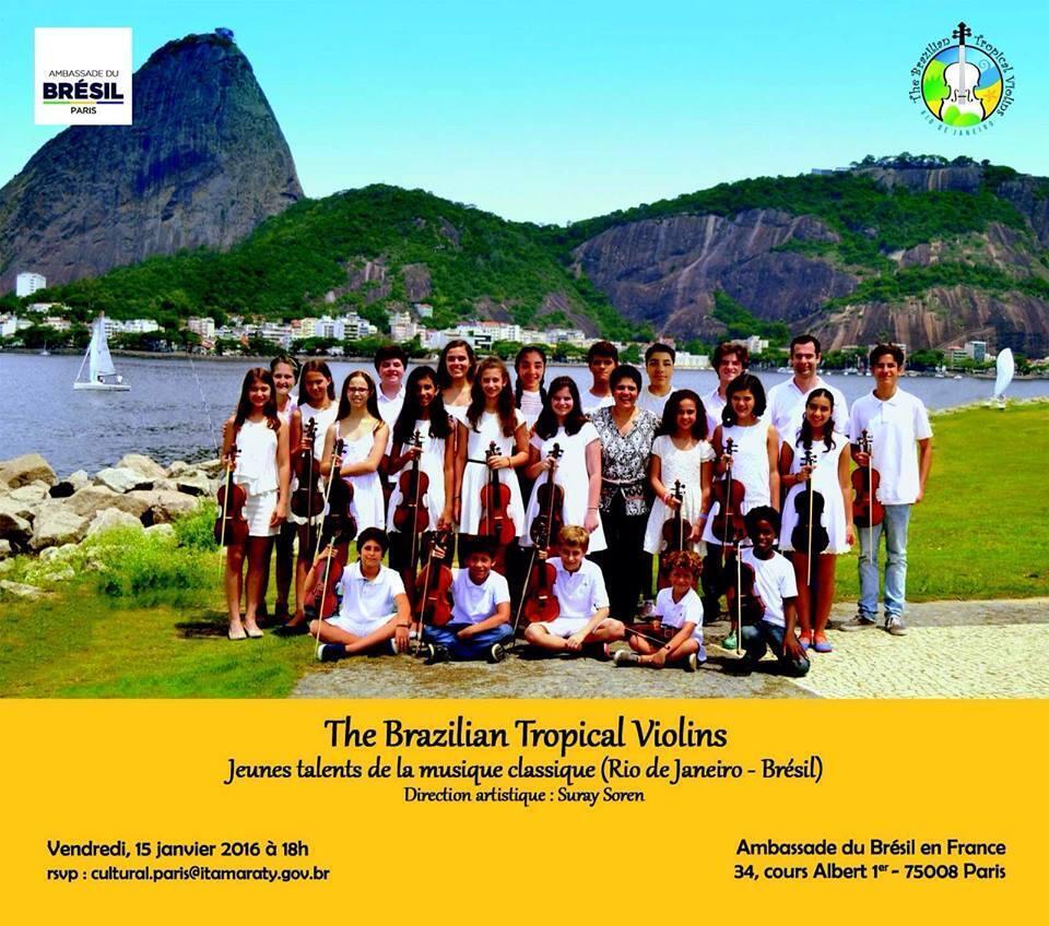 Jovens cariocas violinistas tocam na Alemanha e França neste começo de ano.