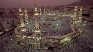La Grande mosquée de La Mecque durant le Hadj.
