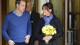 A Duquesa de Cambridge, Kate Middleton deixou o hospital nesta quinta-feira, (6)