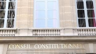 Le Conseil constitutionnel à Paris.