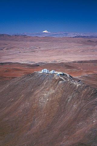El Observatorio del Cerro Paranal está ubicado en el desierto de Atacama (norte de Chile).