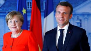 Emmanuel Macron da Waziriyar Jamus Angela Merkel