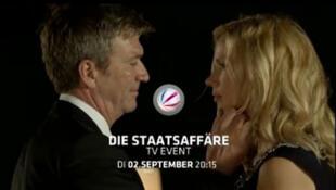 Une capture d'écran de la fiction «Affaire d'État», diffusée le 2/09/2014 sur la chaine de télévision privée Allemande Sat 1.