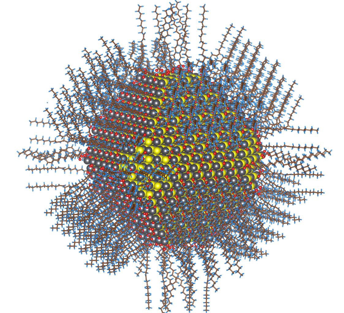 Hạt nano sunfua chì. Ảnh minh họa.
