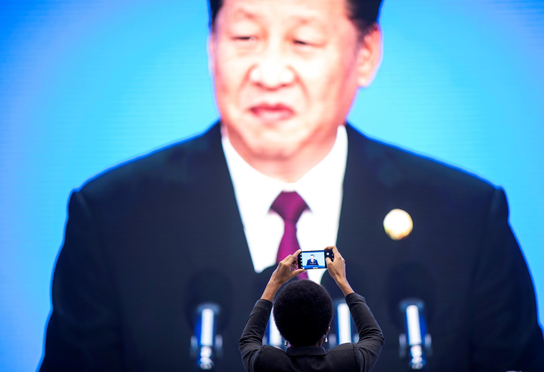 Tập Cận Bình phát biểu trong lễ khai mạc Triển lãm quốc tế xuất nhập khẩu (CIIE) đầu tiên của Trung Quốc ở Thượng Hải ngày 05/11/2018.