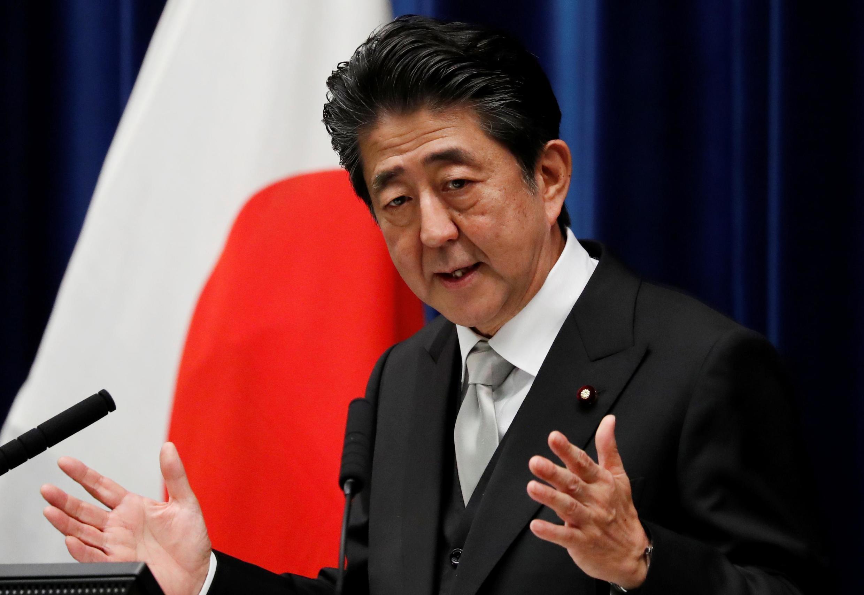 Le Premier ministre japonais Shinzo Abe, à Tokyo, en 2019.