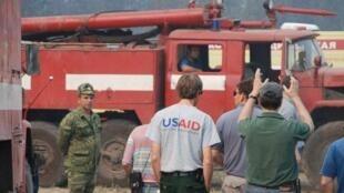 A USAID (Agência americana para o desenvolvimento internacional) ajudou a combater os incêndios florestais na Rússia, em 2010.