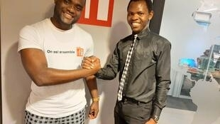 Les représentants des clubs RFI du Cameroun et du Bénin, respectivement Ahmed Njikam et Stanislas Langanfin.