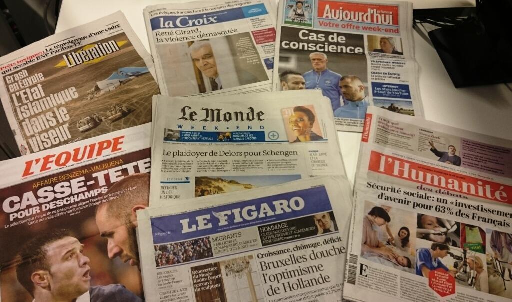 Diários franceses 06/11/2015