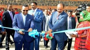 Waziri Mkuu wa Ethiopia Abiy Ahmed akifungua ubalozi wa nchi yake jijini Asmara, Septemba 06 2018