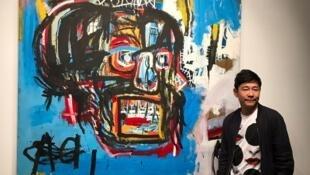 O bilionário japonês Yusaku Maezawa adquiriu uma pintura de Jean-Michel Basquiat por de US$ 110,5 milhões.
