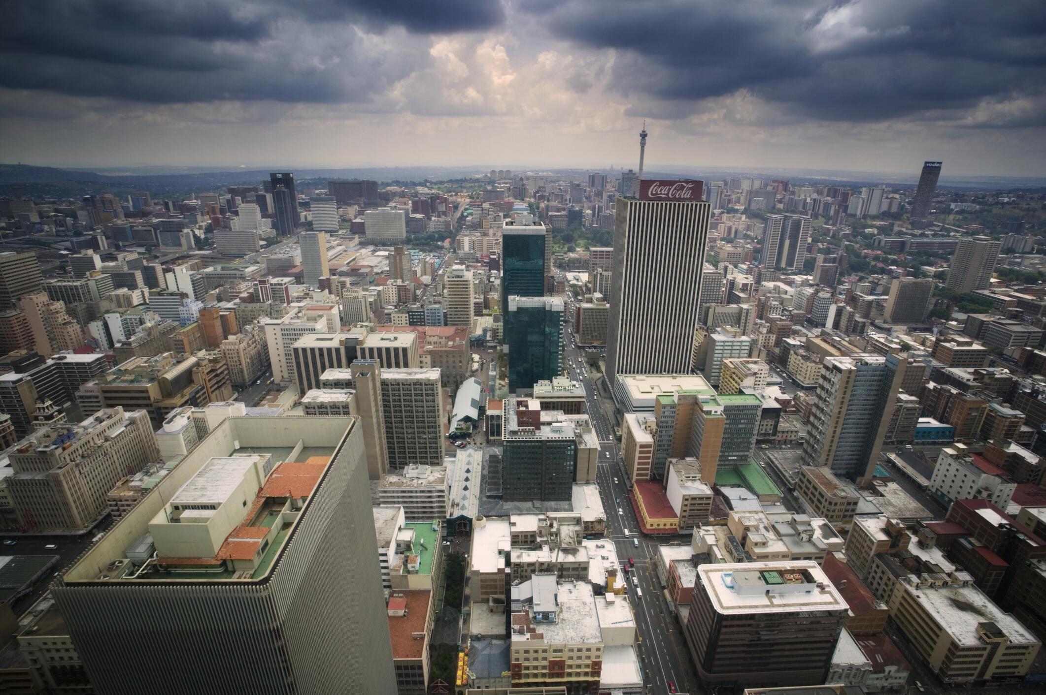 Vue de Johannesburg en Afrique du Sud.