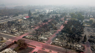 The Almeda Fire destroyed almost all of Talent Mobile Estates, a trailer park of about 100 wooden homes in in Talent, Oregon