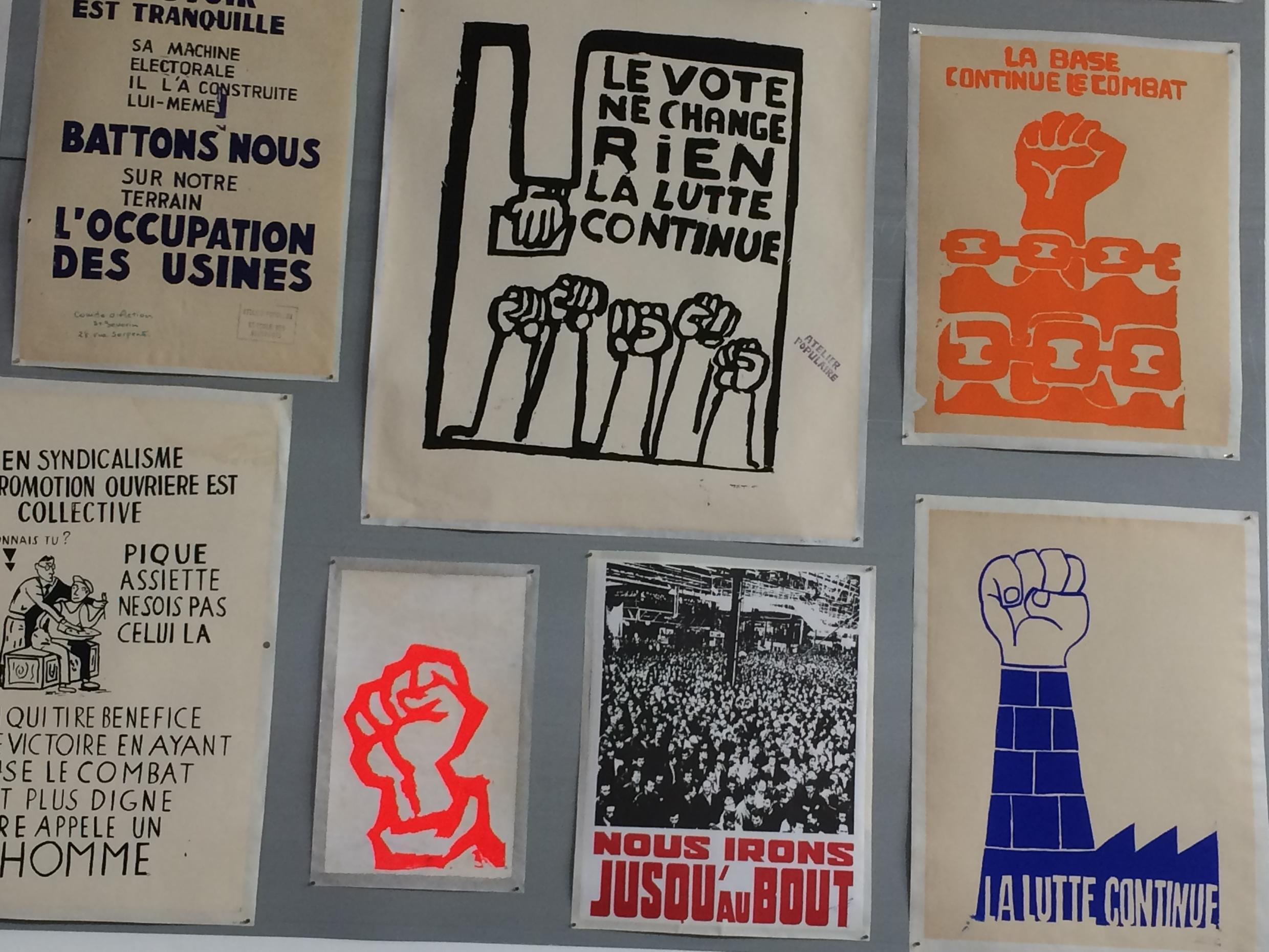 The factory shed became a leitmotiv in many of the Atelier's posters