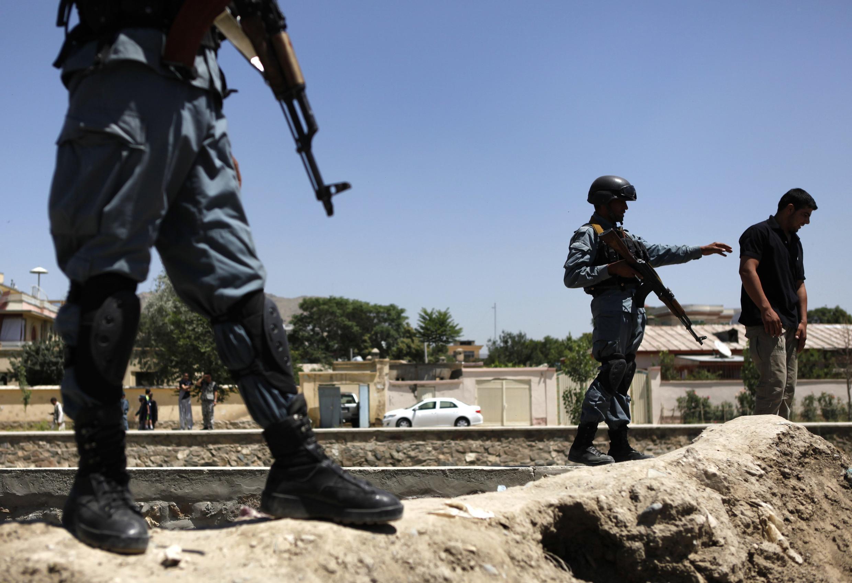 Policiers afghans à Kaboul, le 18 juin 2013.