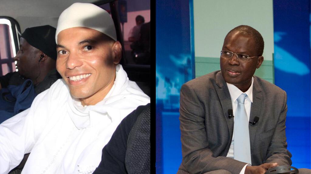 Karim Wade et Khalifa Sall ne pourront tous les deux pas participer à la présidentielle (photos d'archives).