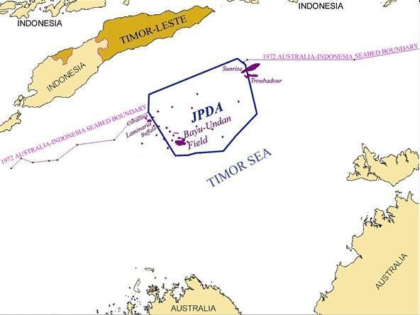 Maritime boundaries East Timor
