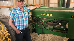 Bob Riggs at his farm near Saskatoon, Canada.
