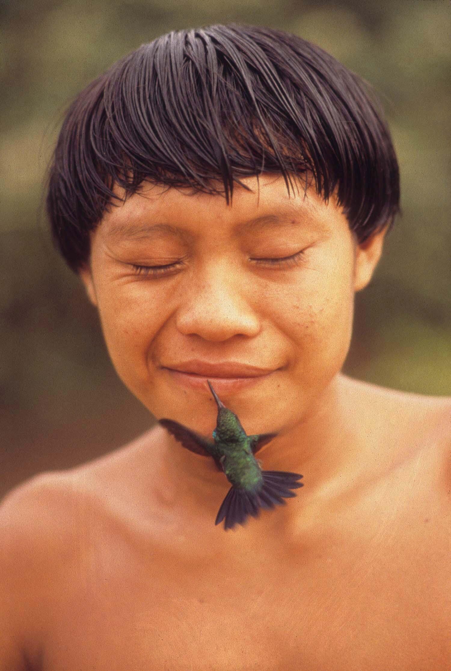 Indígena Yanomami, por Rosa Gauditano.
