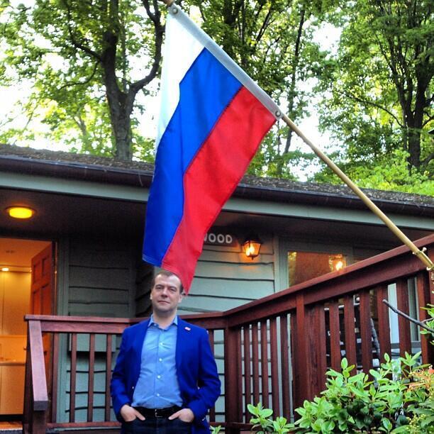 Фотография из нового блога российского премьера Дмитрия Медведева
