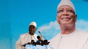 Le président IBK s'est adressé à ses partisans, à Bamako, le 3 août 2018.