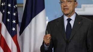 O ministro das Relações Exteriores da França, Alain Juppé