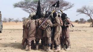 Combattants de Boko Haram au Nigeria.