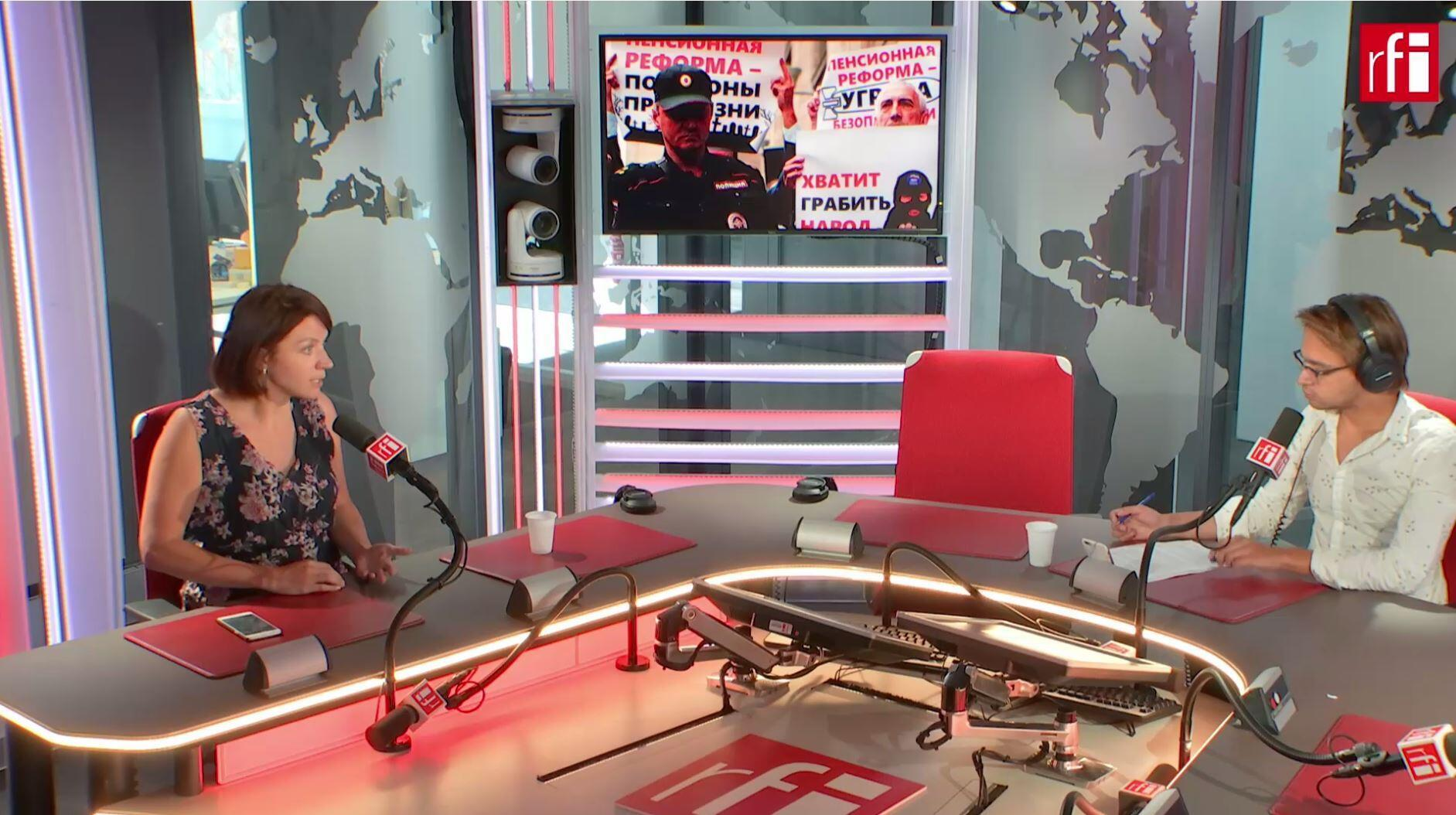 Пресс-секретарь «Открытой России» Наталья Грязневич в студии RFI