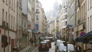 Le quartier de la Goutte-d'Or, dans le XVIIIe arrondissement de à Paris.