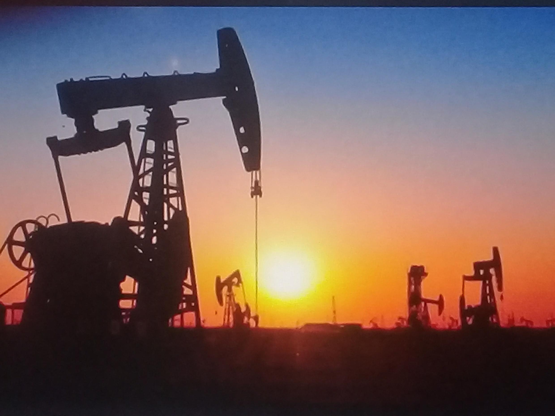 Campos de extracción de petróleo.