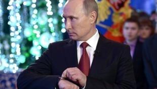 Владимир Путин перед новогодним выступлением в Хабаровске