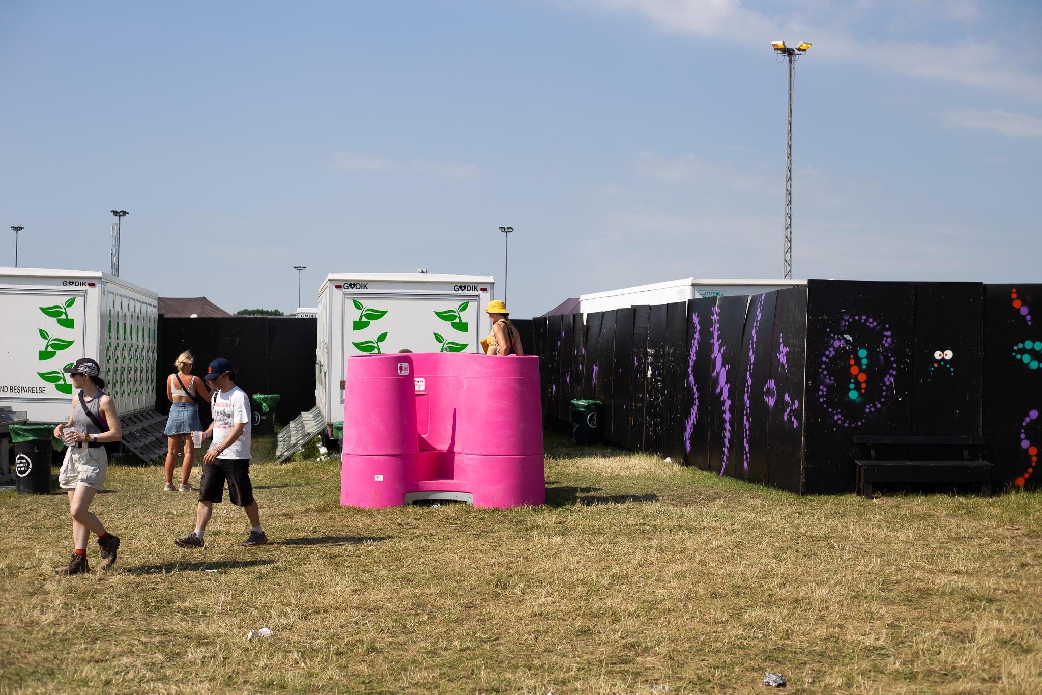 Toilettes instalados no Musica Festivals