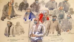 2020-12-16 france paris charlie hebdo trial hyper cacher Riza Polat Amedy Coulibaly