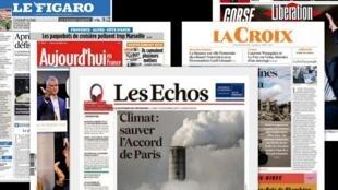"""A imprensa francesa dá destaque para a cúpula """"One Planet Summit"""" que abre nesta segunda-feira (11)."""