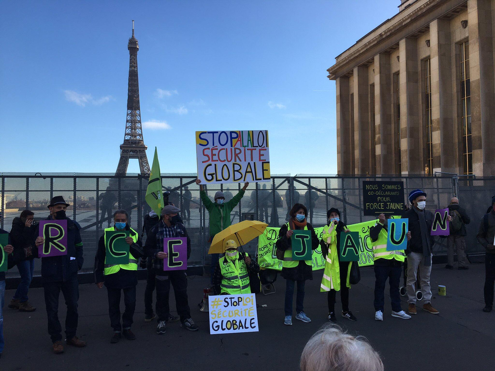 Protesters gather in Paris against the global security bill_21 Nov 2020_Credit Mike Woods